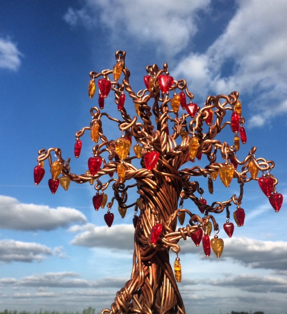 copper tree with glass hearts.jpg